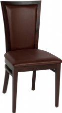 Capital/Kim Wooden Side Chair with Upholstered Seat & Back in Dark Walnut & Brown